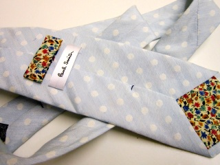 Spotted Silk & Linen Tie