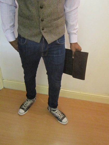 Harris Tweed Mixed With Denim